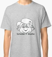 Sylvester P. Smythe '90s Contents-page Masthead black and white logo Classic T-Shirt