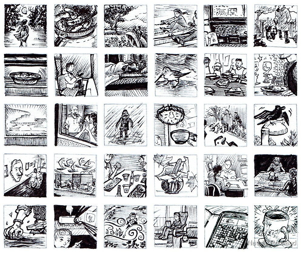 30 1 Inch Drawings  by Natalie Rowland