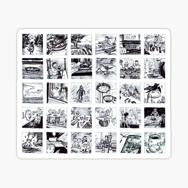 30 1 Inch Drawings  Sticker