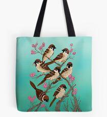 Sakura Sparrows Tote Bag