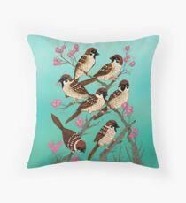 Sakura Sparrows Floor Pillow