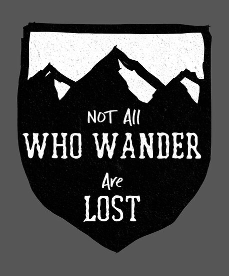 Hiking Funny Design Not All Who Wander Are Lost Posters By