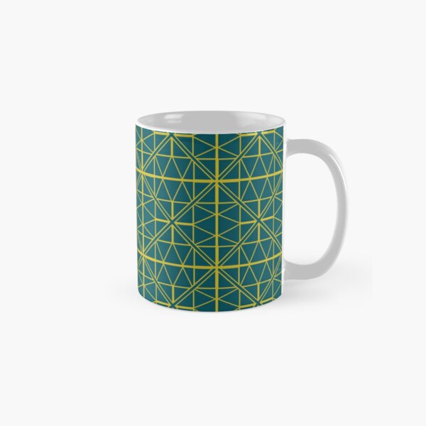 Green Triangle Pattern Classic Mug