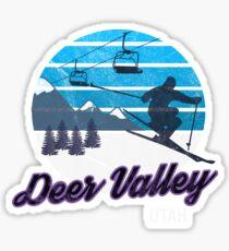 Deer Valley Park City Utah USA Ski Resort Snowboarding Winter Skiing Wear T-Shirts Hoodies Sweaters and Jumpers Sticker