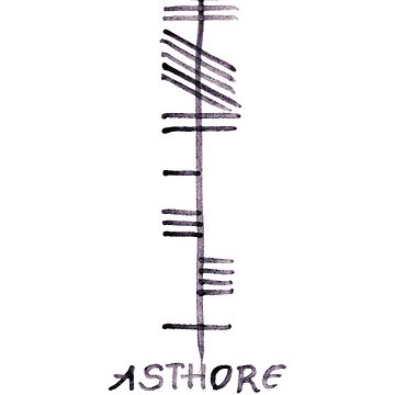 Treasure in Irish Ogham Script - Asthore by Cleave