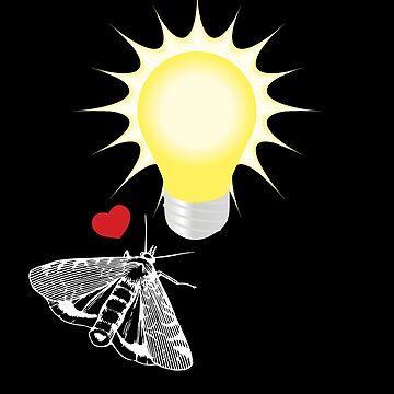 Moth love to a light bulb  by Gifafun