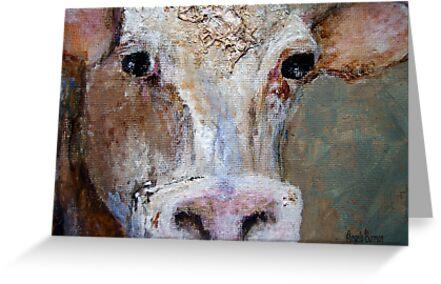 Nosy Cow by Angela  Burman