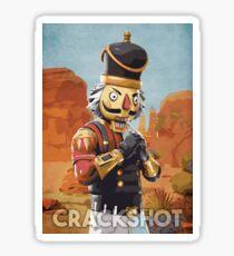 Crackshot Sticker