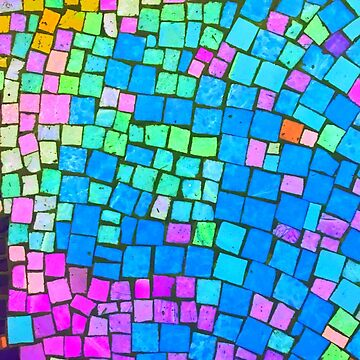 Mixed Up Rainbow Colorful Abstract Mosaic by SweetDominique
