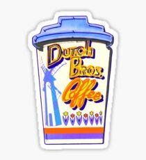 Dutch bros  coffee sign board Sticker