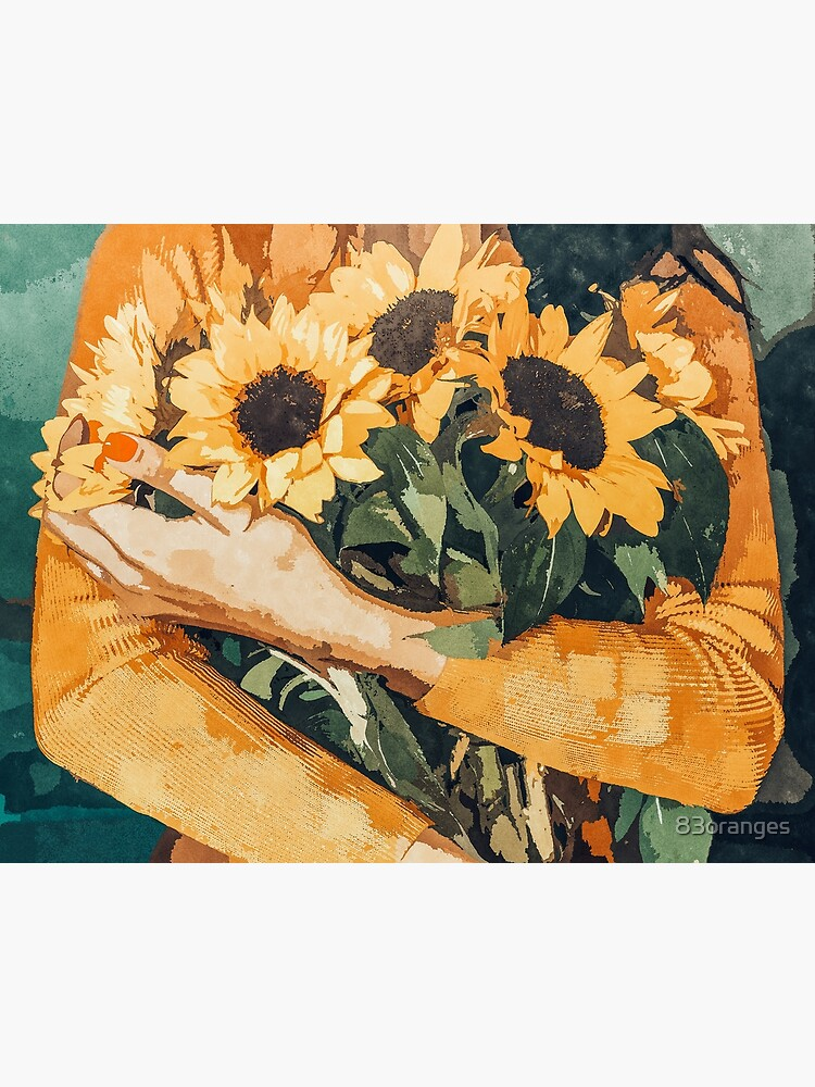 Holding Sunflowers by 83oranges