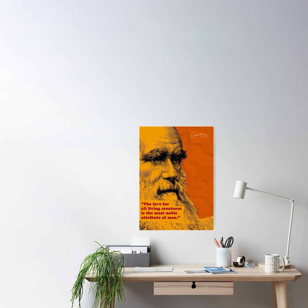 Charles Darwin Quote 5 Poster