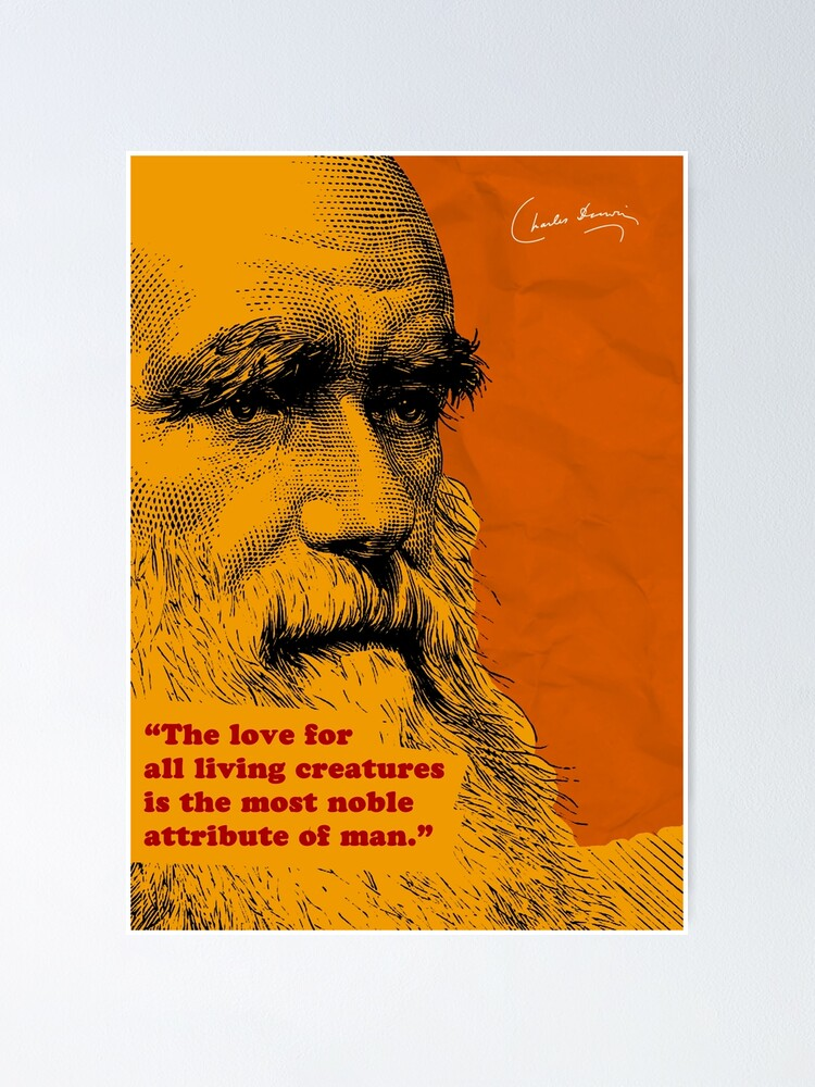 Alternate view of Charles Darwin Quote 5 Poster