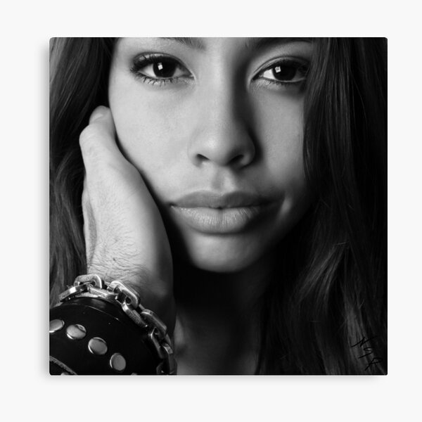 """Fine Erotic Art Photography """"Beautiful B&W - Interactive POV """" Sexy Mouth - Mouth - Lips - Face - Tongue Canvas Print"""