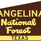 Angelina National Forest Texas Sign by MyHandmadeSigns