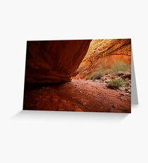 Hiking the Narrow, Capitol Reef Greeting Card