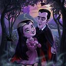 Count and Countess Dracula during Halloween evening by martyee