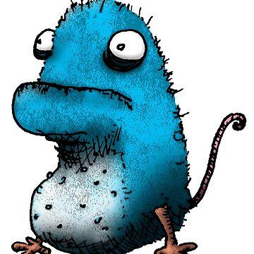 Weird Blue Creature by onibug
