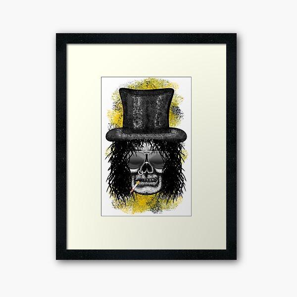 Errorface Skull Icons - Snake Framed Art Print