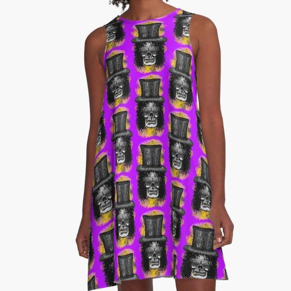 Errorface Skull Icons - Snake A-Line Dress