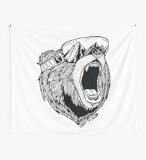 Bear Goggles Wall Tapestry