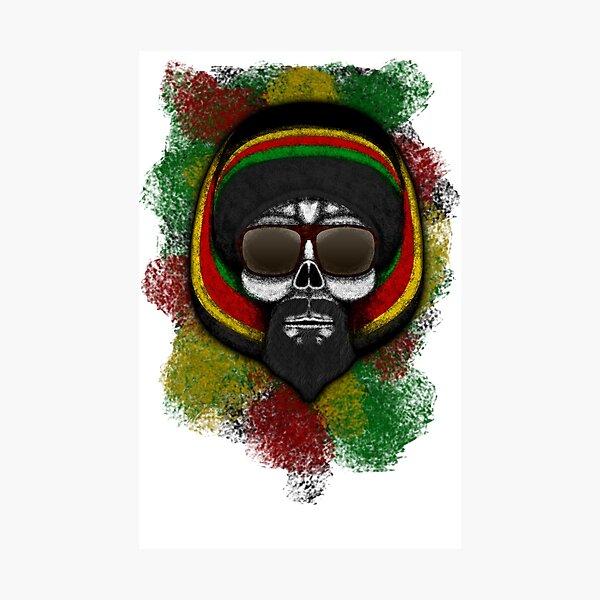 Errorface Skull Icons - Lion Photographic Print