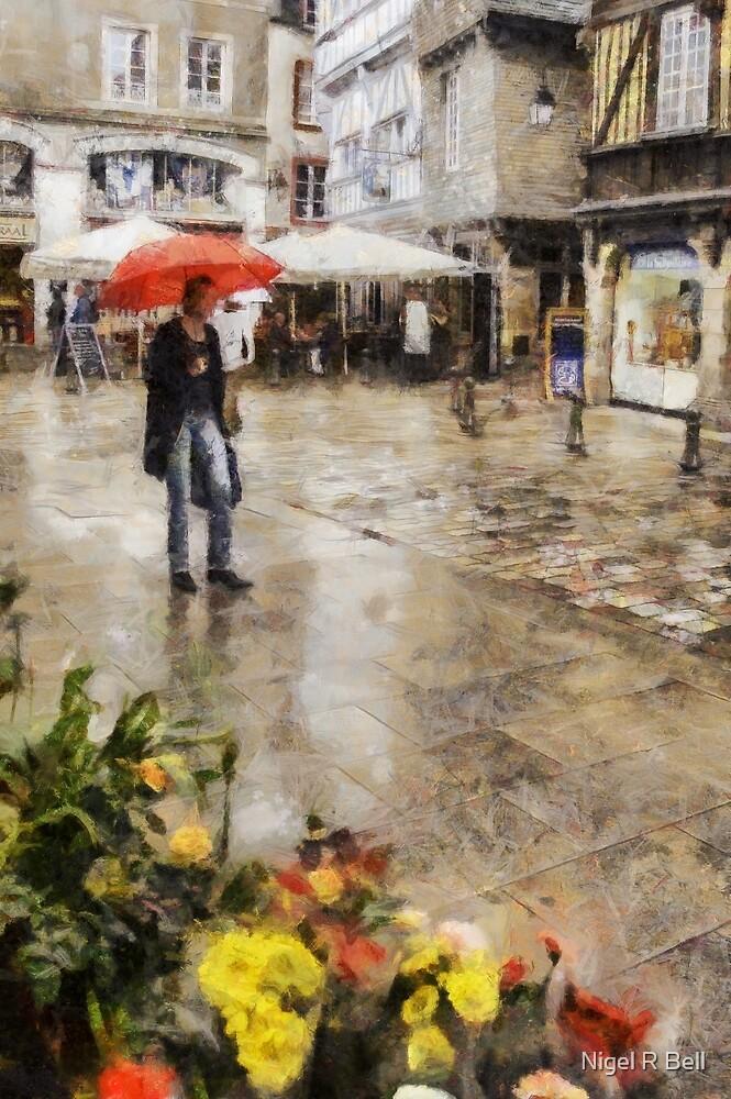 Red Umbrella by Nigel R Bell