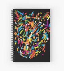 graphic leopard Spiral Notebook
