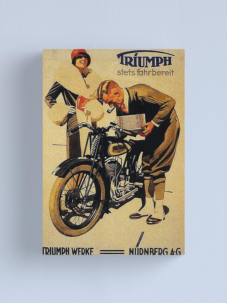 Alternate view of Triumph Motorcycles, Nuremberg...vintage ad Canvas Print