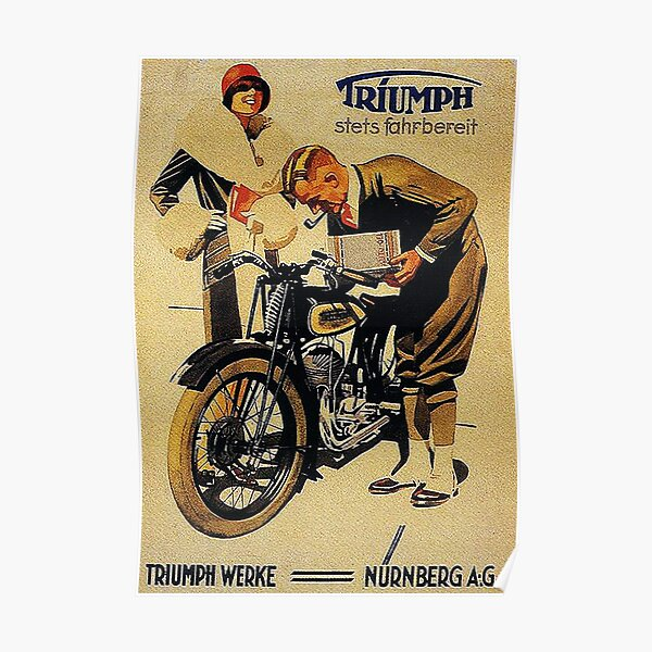 Triumph Motorcycles, Nuremberg...vintage ad Poster