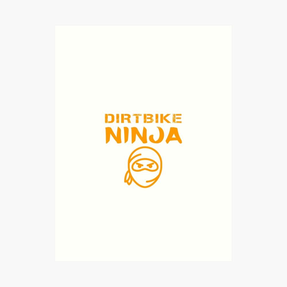 Dirtbike Ninja Funny Motocross Enduro Motorbike Gifts Art Print