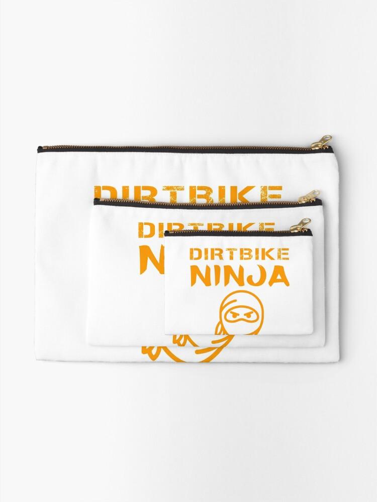 Alternate view of Dirtbike Ninja Funny Motocross Enduro Motorbike Gifts Zipper Pouch