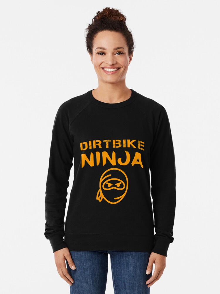 Alternate view of Dirtbike Ninja Funny Motocross Enduro Motorbike Gifts Lightweight Sweatshirt