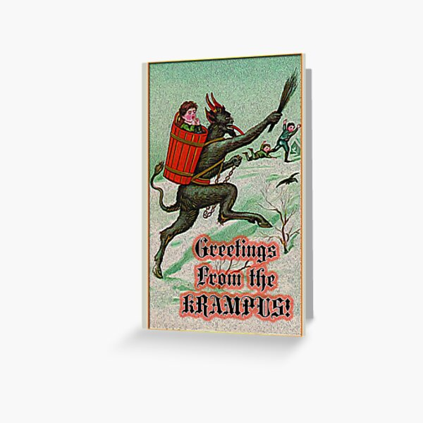 Greetings from the Krampus! Greeting Card