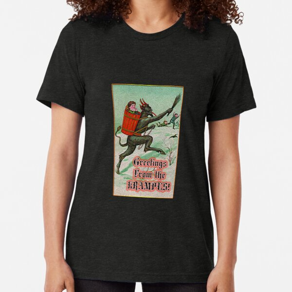 Greetings from the Krampus! Tri-blend T-Shirt