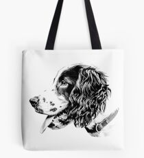 Cocker in Black and White Tote Bag