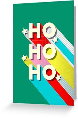 HO HO HO Christmas Typography by ShowMeMars