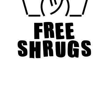 Free shrugs, funny meme t-shirt, humorous shirt design, funny gift, meme gift, funny Unisex T Shirt by byzmo