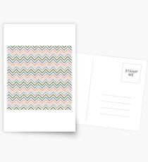Striped Pattern Postcards