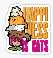 Cats Cat Lover Happiness Cat Life Sticker