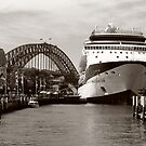 Cruising the Harbour - Black & White Version by Lisa Williams