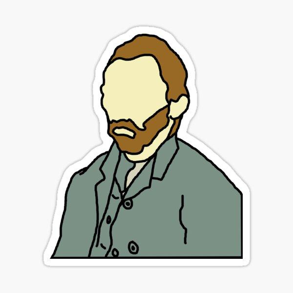 Van Gogh Illustration Sticker