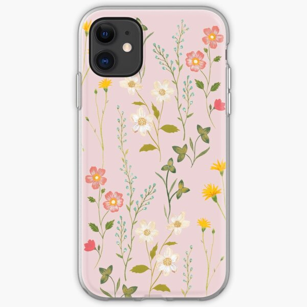 Dreamy Floral Pattern iPhone Soft Case