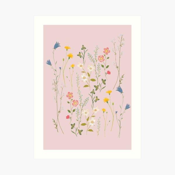 Dreamy Floral Pattern Art Print