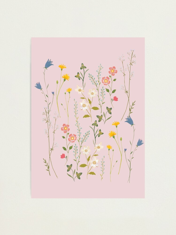 Alternate view of Dreamy Floral Pattern Photographic Print