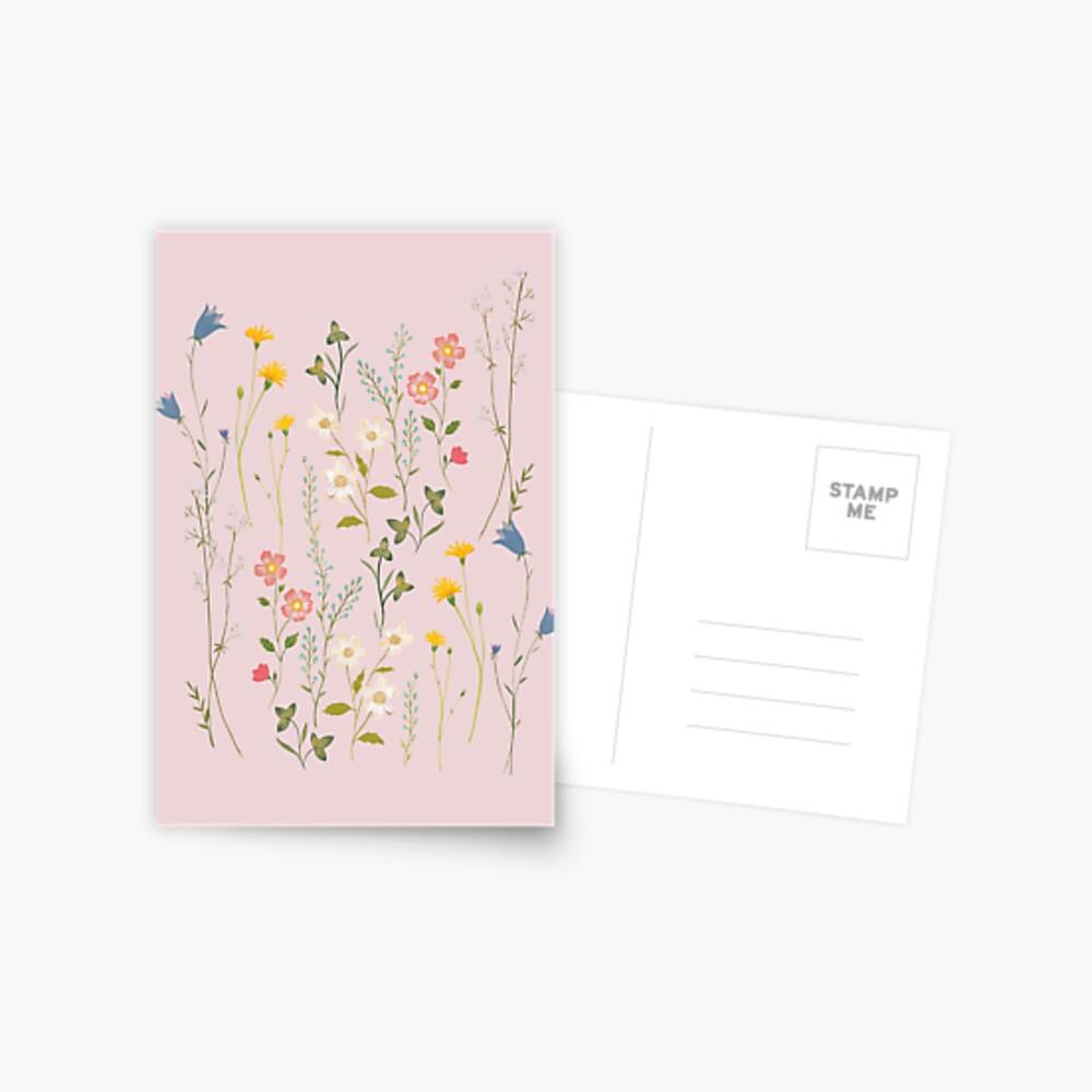 Dreamy Floral Pattern Postcard