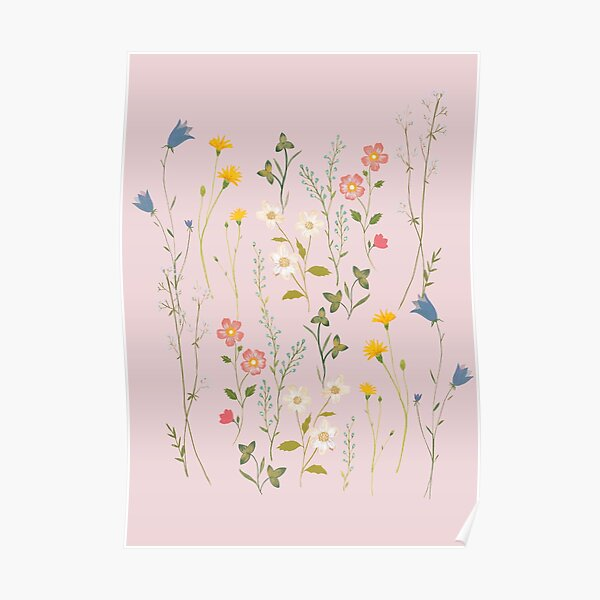 Dreamy Floral Pattern Poster