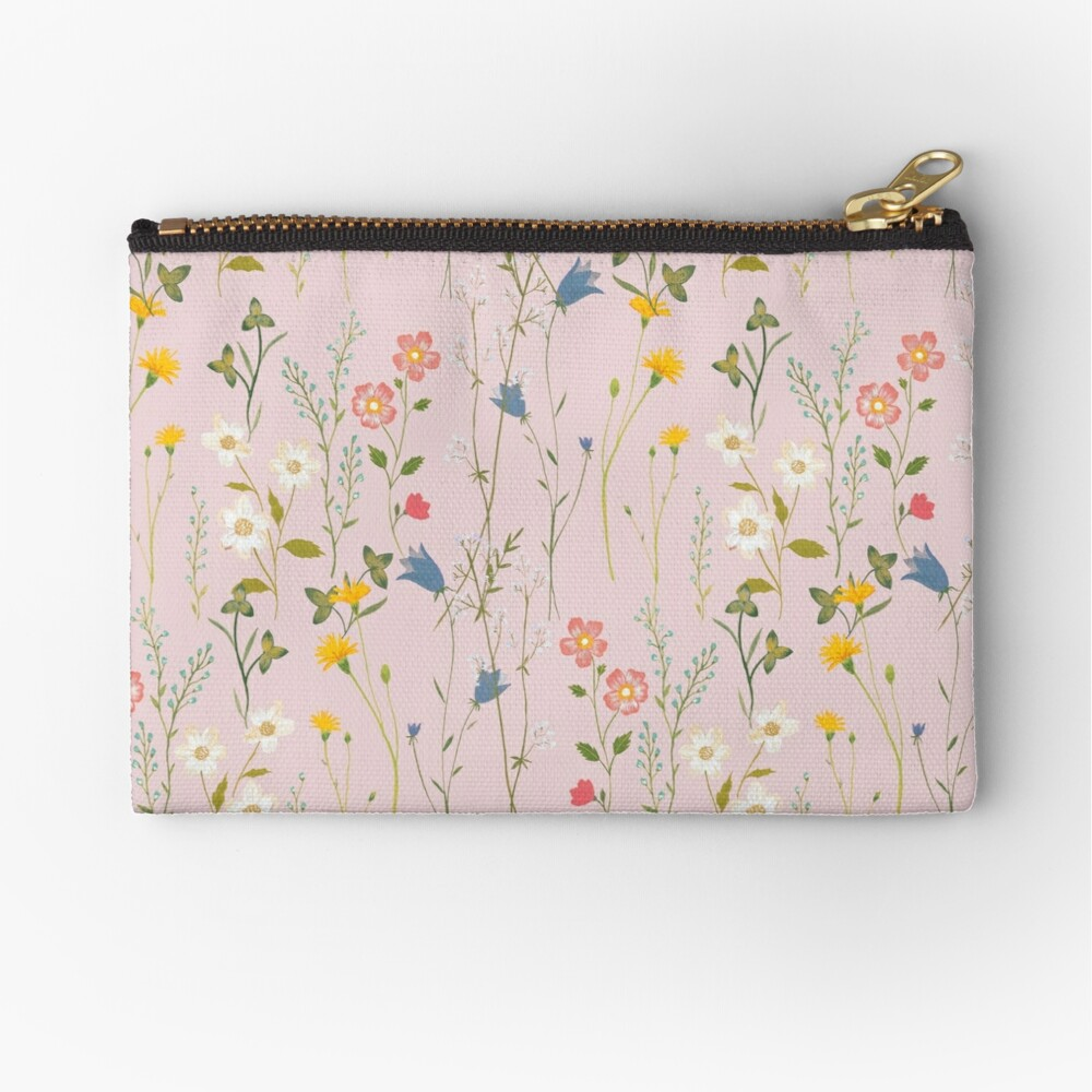 Dreamy Floral Pattern Zipper Pouch
