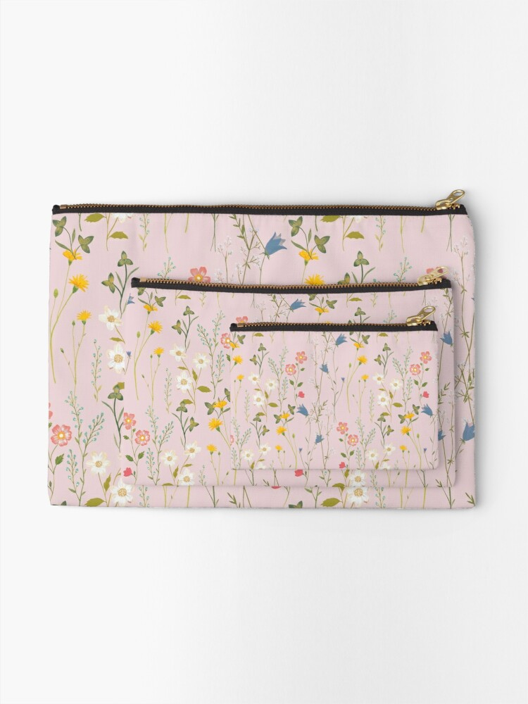 Alternate view of Dreamy Floral Pattern Zipper Pouch