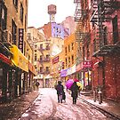 A Colorful Snowstorm - New York City by Vivienne Gucwa